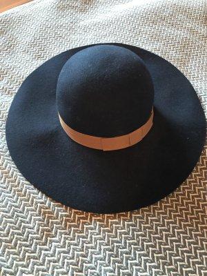 Street One Chapeau en feutre bleu foncé-marron clair