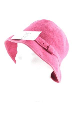 Chapeau en feutre rouge brique style décontracté