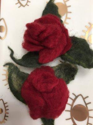 Filzrosen Anstecker Broschen rot