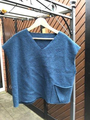 Handmade Top en maille crochet turquoise