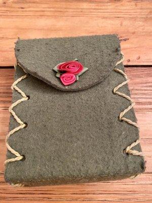 Filztasche/Trachten-Tasche für Gürtel, moosgrün