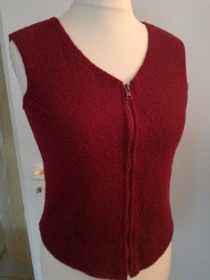 Chaleco de punto púrpura lana de esquila