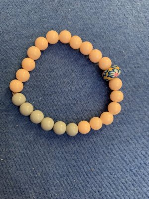 Handmade Bransoletki z perłami nude-stary róż