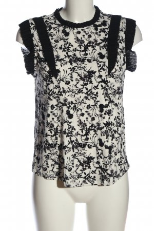 find. Mouwloze blouse wit-zwart casual uitstraling