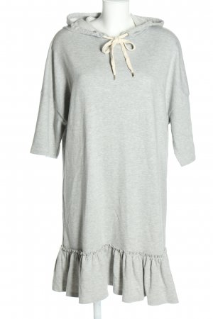 find. Hooded Dress light grey casual look