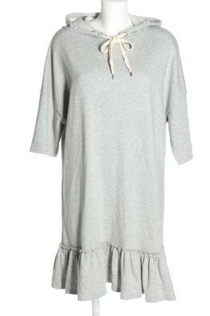 find. Robe à capuche gris clair style décontracté