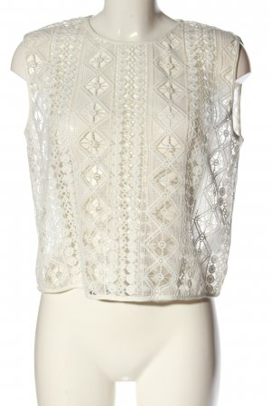 Finders Keepers Blusa in merletto bianco sporco stile casual