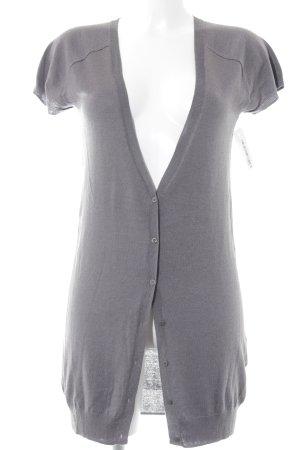 Fine Collection Cardigan grau Casual-Look