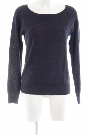 Fine Collection Strickpullover blau meliert Casual-Look
