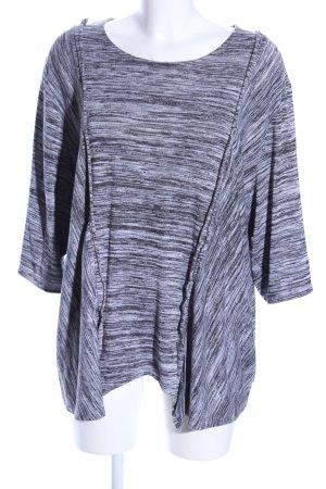 Fine Reiff Oversized shirt zwart-wit gestippeld casual uitstraling