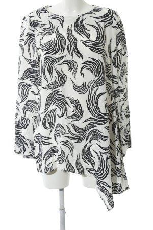 Finery Blusenkleid weiß-schwarz Allover-Druck Casual-Look