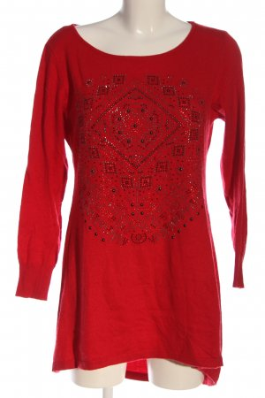 Finery Lange jumper rood casual uitstraling