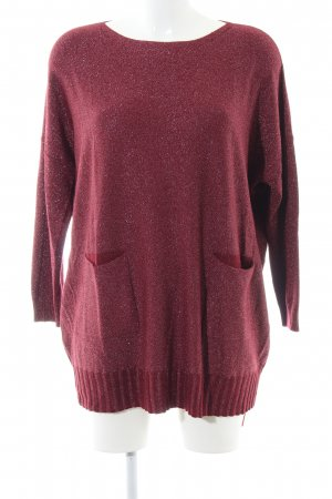 Finery Oversized Pullover rot meliert Casual-Look