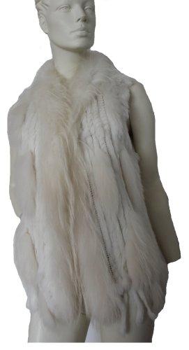 Chaqueta de piel blanco Pelaje