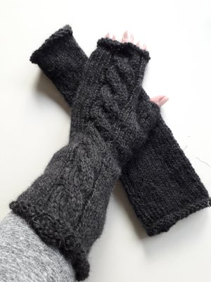 Fingerless Gloves anthracite