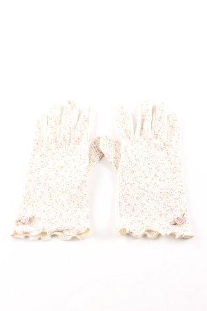 Guantes con dedos estampado repetido sobre toda la superficie elegante