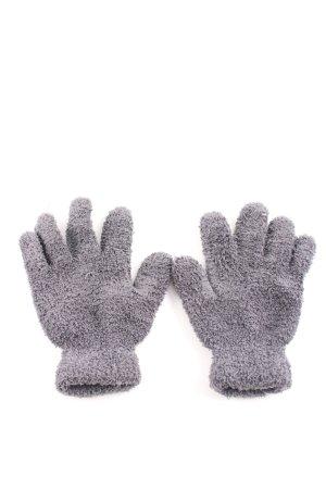 Guantes con dedos gris oscuro