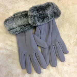 Fingerhandschuhe mit Fellmanschette