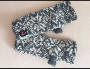 Dale of Norway Fingerless Gloves grey-natural white