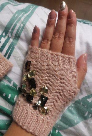ohne Marke Handschoenen zonder vingers stoffig roze