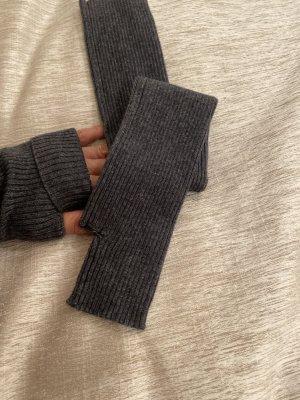 Handschoenen zonder vingers donkergrijs