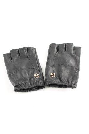 Fingerless Gloves black casual look