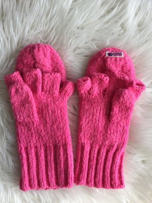 Superdry Fingerless Gloves pink