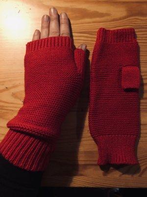 Handschoenen zonder vingers rood