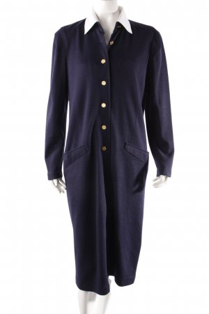 Fink Modell Vintage Mantelkleid dunkelblau