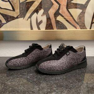 FinnComfort Damenschuhe Leder schwarz grau Gr 39 UK 5.5 Leopardenmuster, NP 179€