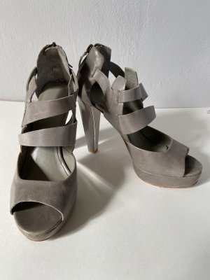 Sandalias con plataforma gris