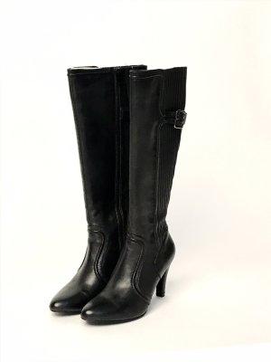 FIONA Heel Boots black leather