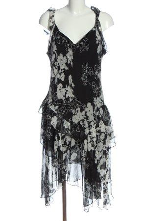 Fionella A Line Dress black-light grey allover print elegant