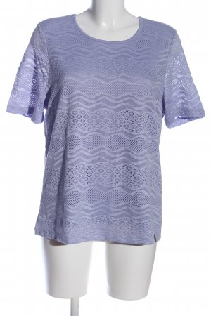 fiora blue Kurzarm-Bluse blau Casual-Look