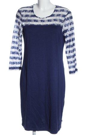fiora blue Langarmkleid blau-weiß Streifenmuster Casual-Look