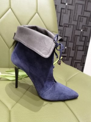 Fiore Damen Echt Leder Stiefeletten blau Gr. 37