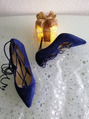 Fiore Italy Damen Echt Leder Pumps blau Gr. 40