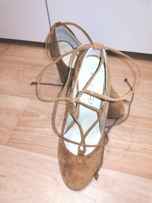 Fiore Lace-up Pumps apricot leather