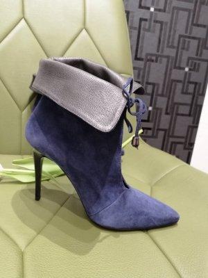 Fiore Italy Damen Echt Leder Stiefeletten blau Gr. 41