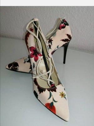 Fiore Italy Damen edle Pumps floral Gr. 38