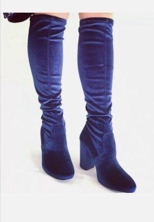 Fiore Botas elásticas azul tejido mezclado