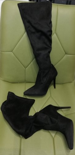 Fiore Stretch Boots black leather