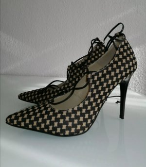 Fiore Italy Damen Pumps mit Hahnentrittmuster Gr. 38