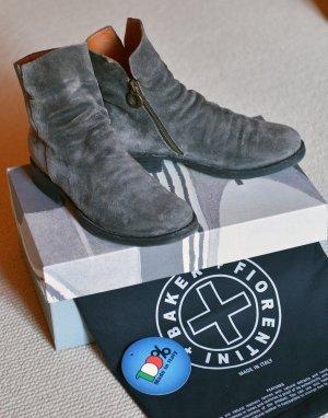 FIORENTINI & BAKER 36/37 Md.Elf Grau Ankle Boots Leder Velour OVP