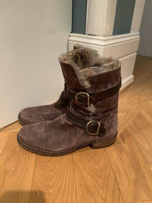 Fiorentini + Baker Boots Eternity aus Veloursleder mit Fell