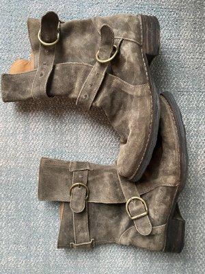 Fiorentini & baker Botas moteras gris verdoso-caqui