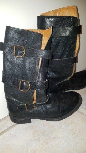 Fiorentini & baker Botte de moto noir cuir