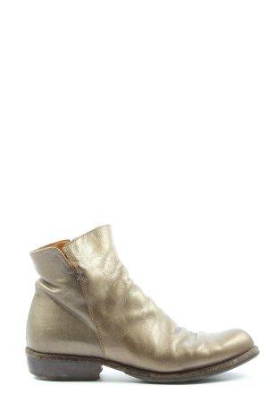 Fiorentini & baker Reißverschluss-Stiefeletten goldfarben Casual-Look