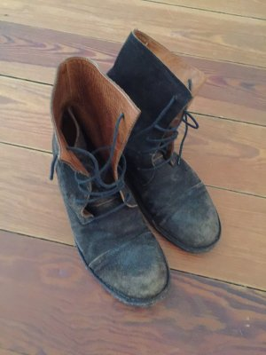 Fiorentini & baker Aanrijg laarzen zwart-roodbruin Leer