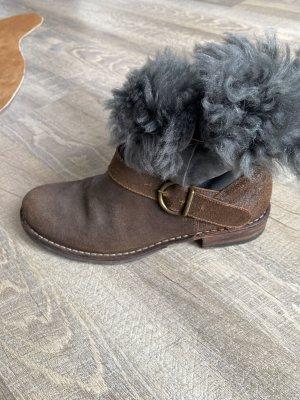 Fiorentini & baker Futrzane buty ciemnoszary-brązowy
